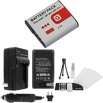 np-fg1 Rápido-cargador para Sony CyberShot np-bg1 con micro USB Plug