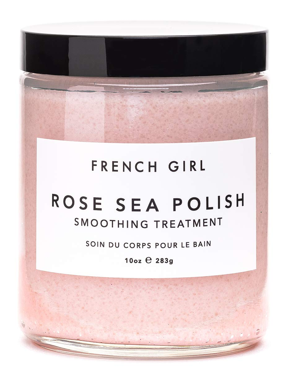 French Girl Organics - Organic/Vegan Sea Salt Body Polish (Rose/Vervaine)