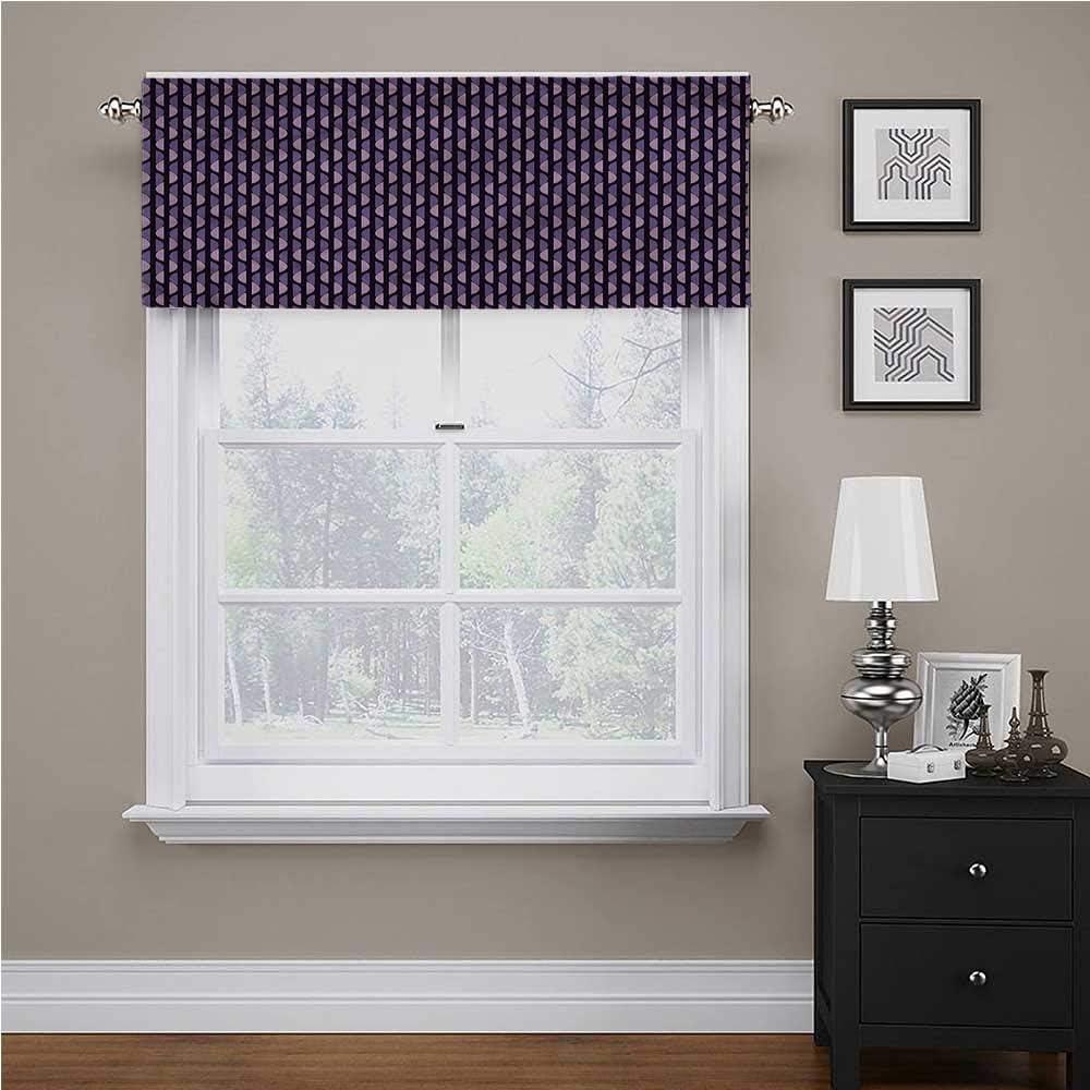 Youdeem-home Geometric Curtain Valance Stripes Half Circles Coastal Beach House Curtains Valance 1 pc Rod Pocket, 56 x 16 inch