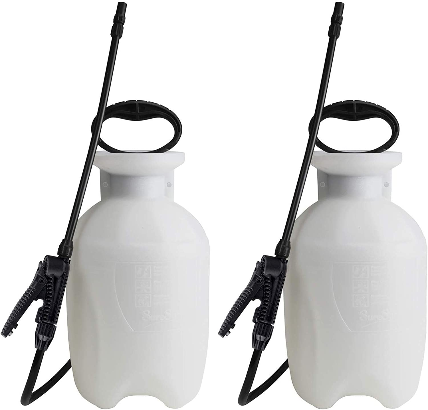 Chapin 20000, 1 Gallon Lawn, Garden and Multi-Purpose Sprayer with Adjustable Nozzle, Translucent White, 2 Pack