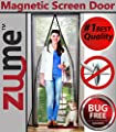 "Magnetic Screen Door-Zume Offers Highest Quality Easy to Install Door Screens with Magnets-size 40"" X 83""-fits Doors up to 38"" X 82"" Max-Pet Friendly-12 Point Inspected Premium Mesh Curtain-keep Mosquitoes Out While Letting the Cool Breeze In! from Zume P"