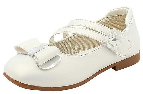 GEMVIE Zapatos Princesa Niñas con Lazo Antideslizante Fiesta Boda: Amazon.es: Zapatos y complementos
