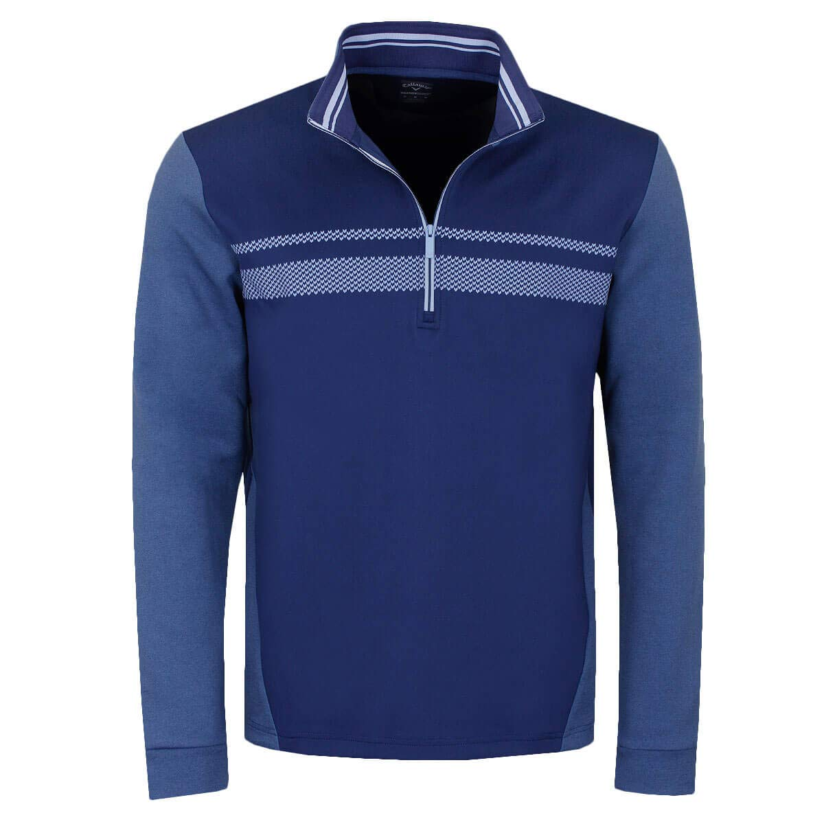 Callaway Golf 2019 Mens 1/4 Zip High Gauge Fleece Thermal Stretch Golf Pullover Medieval Blue Medium by Callaway