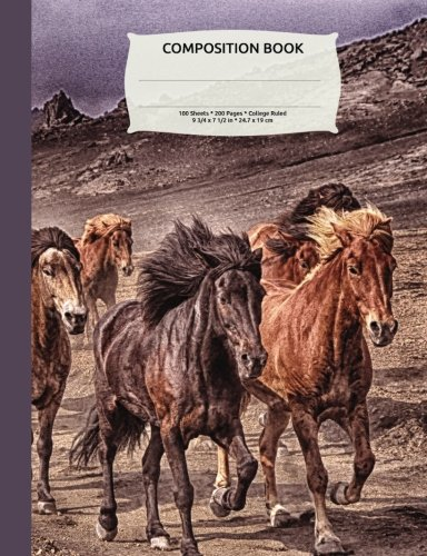 Download Desert Wild Horses Composition Notebook, College Ruled: Lined Student Exercise Book ebook