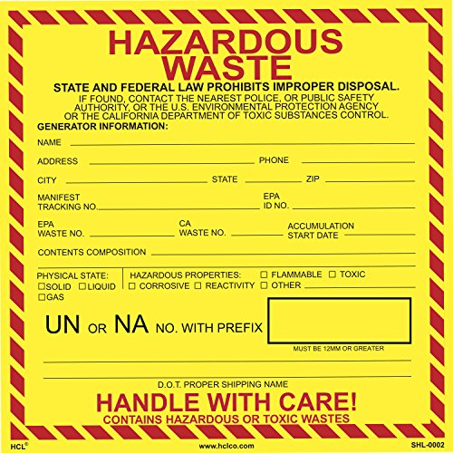Hazardous Waste Label - 6