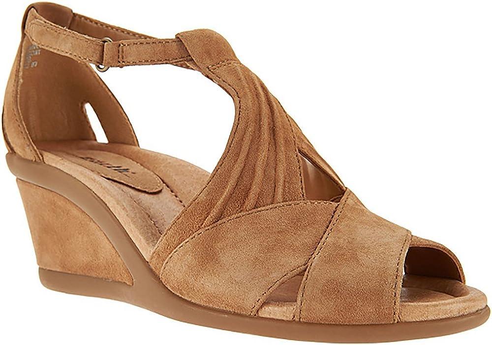 Curvet Wedge Heel Sandals Biscuit 9.5