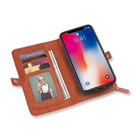 coque iphone x portefeuille detachable