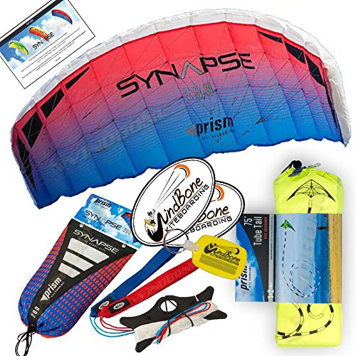 Prism Synapse Foil Power Kite with Stunt Display Tail Bundle