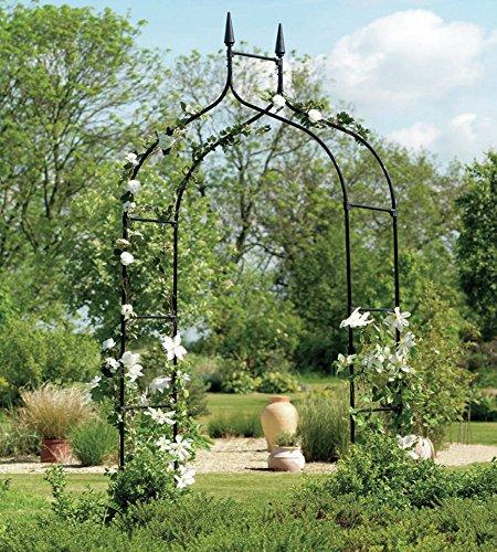 Arch Back Metal - Extra Tall Gothic Arbor Garden Trellis Outdoor Metal Arch For Backyard Patio Rose Garden Yard