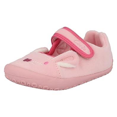 0de547709a21 Clarks Angel Dreams Girls Slippers 5.5 UK F Pink  Amazon.co.uk ...
