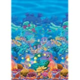 """Amscan Sun-Sational Summer Luau Party Coral Reef Scene Setter Room Roll Wall Decoration, 1 Piece, Made from Vinyl, 48"""" x 40 feet by"""