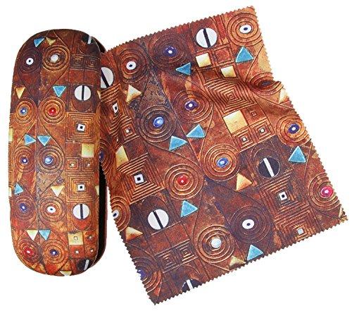 Set étui à lunettes et chiffon de nettoyage pour lunettes Klimt–Stoclet de Artis Vivendi