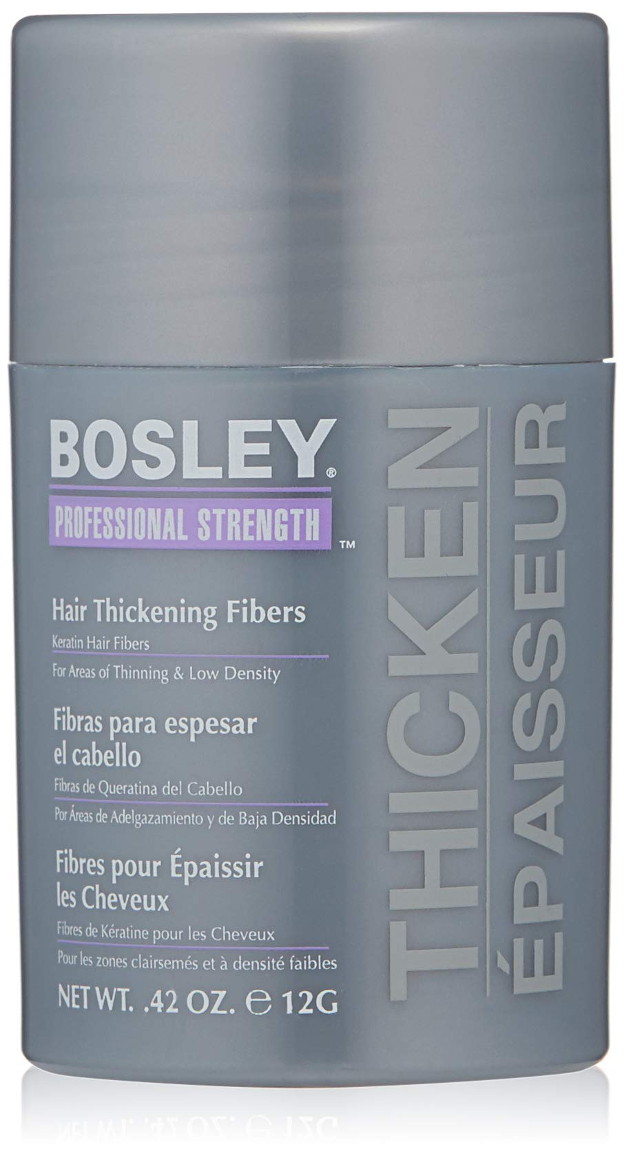 Bosley Professional Strength Hair Thickening Fibers, Light Brown, 0.42 Ounce by Bosley Professional Strength