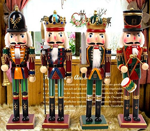 Nutcracker Soldiers Gift Set from Spring Country | Great Decoration Figure Collection to Share a Memory with | Christmas | New Wooden Puppets | 12 inch Toys Holiday Ornament | 4 Pieces Toy Set by Spring Country (Image #5)