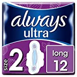 Always Ultra Long Sanitary Towels with Wings - Size 2, 12 Pads