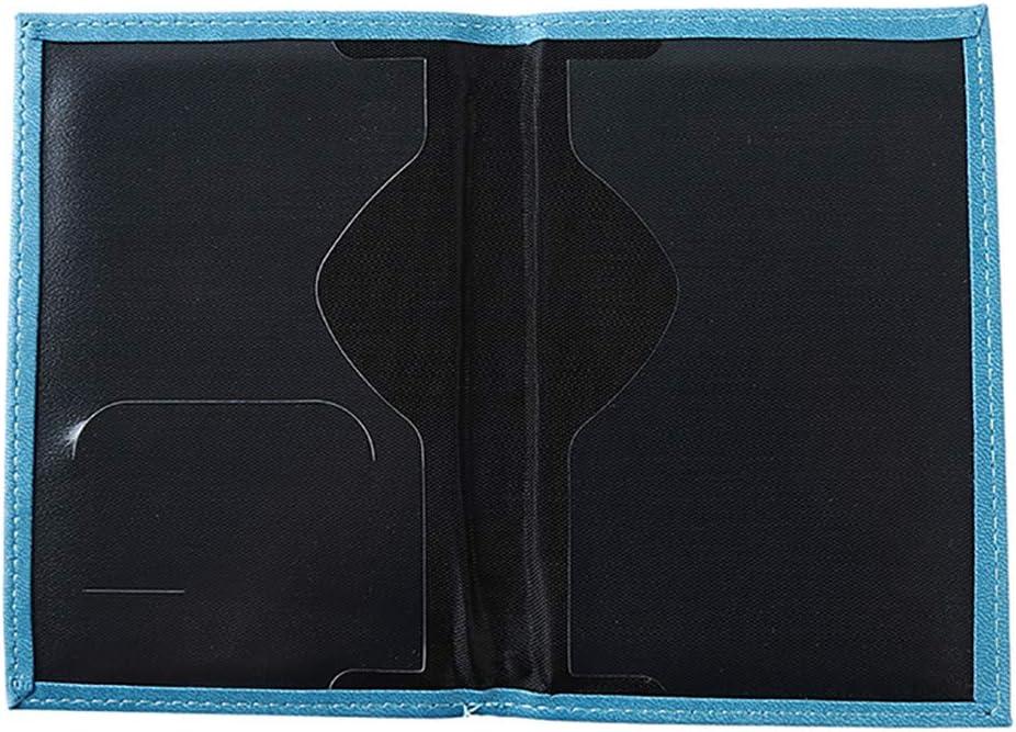 Blau YSINFOD Tragbare Reisepassh/ülle Bifold Pu Leder Reisepassh/ülle Travel Card Wallet Pack Passh/ülle Mit Mehreren Kartensteckpl/ätzen