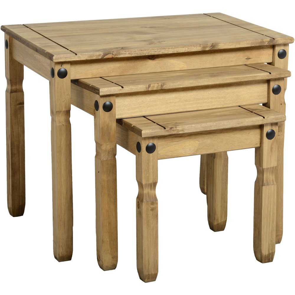 Corona Mexican Pine NEST TABLES (3) CORE PRODUCTS CR907
