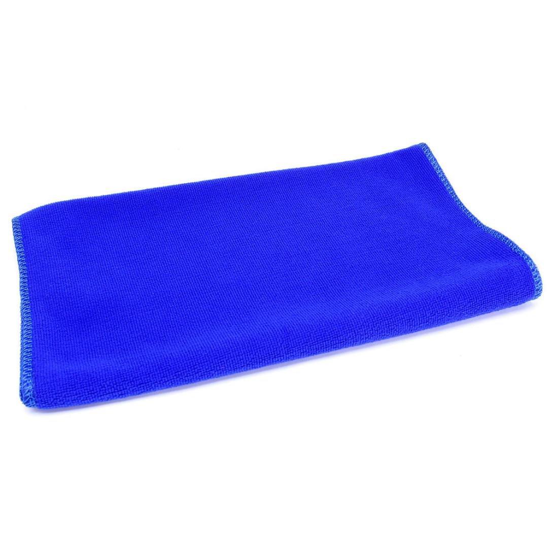 FTXJ 5Pcs Blue Soft Absorbent Wash Cloth Car Auto Care Microfiber Cleaning Towels (Blue(30 cm 70 cm) 1pcs)