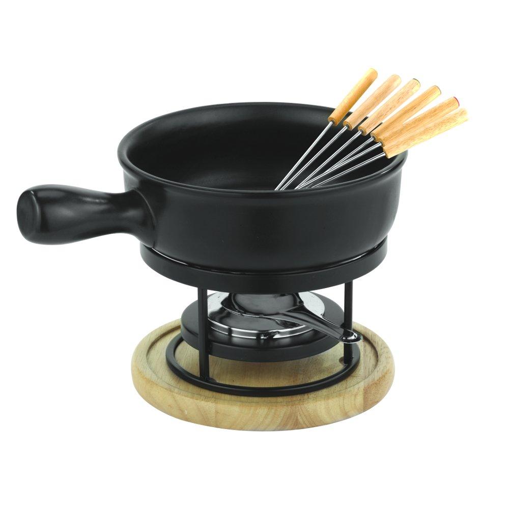 Amazon Com Paderno World Cuisine Ceramic Cheese Fondue Set Fondue Pots Kitchen Dining