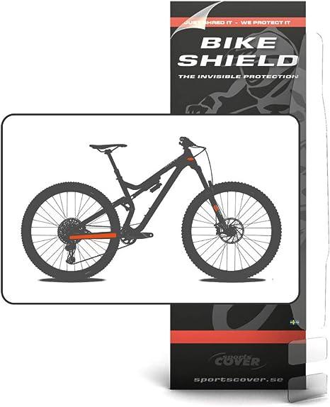 BikeShield StayShield/HeadShield - Protector para el Cuadro de la Bicicleta, Transparente: Amazon.es: Deportes y aire libre
