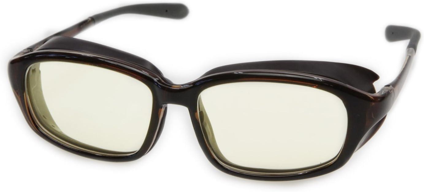 ロービジョンケア アイキュア+HYDEレンズセット EC607L-HYDE メガネ周辺からの眩しい光をカット、ブルーライトカット 白内障術後 保護メガネ