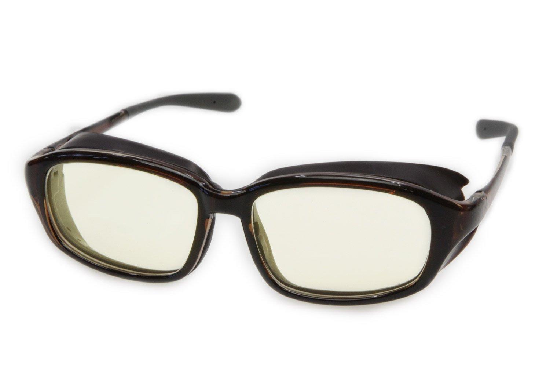 ロービジョンケア アイキュア+HYDEレンズセット EC607L-HYDE メガネ周辺からの眩しい光をカット、ブルーライトカット 白内障術後 保護メガネ   B06XP8H1R6