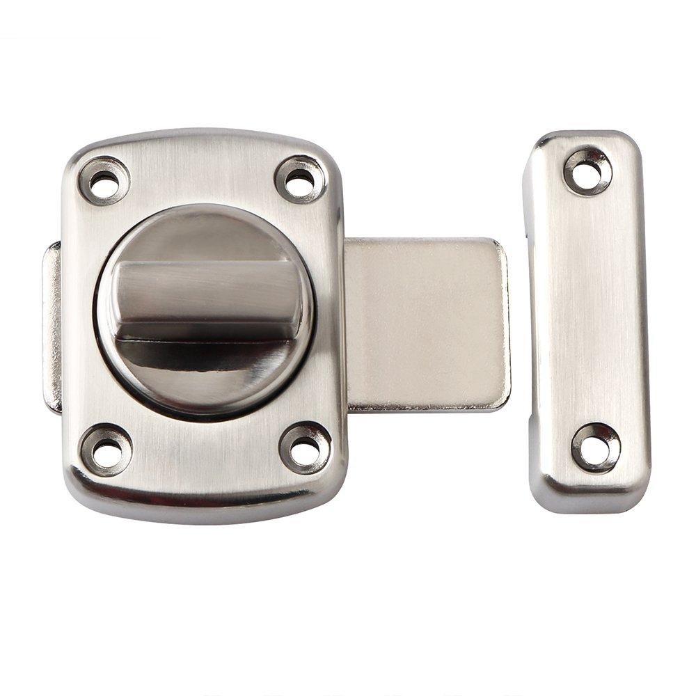Alise Rotate Bolt Latch Gate Latches Safety Door Slide Lock,MS220U Brushed Finish