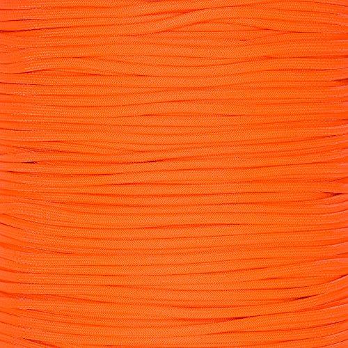 PARACORD PLANET 550 Cord Type III 7 Strand Paracord 100 Foot Hank - Neon Orange