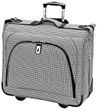 London Fog Cambridge 44 Inch Wheeled Garment Bag, Black/White