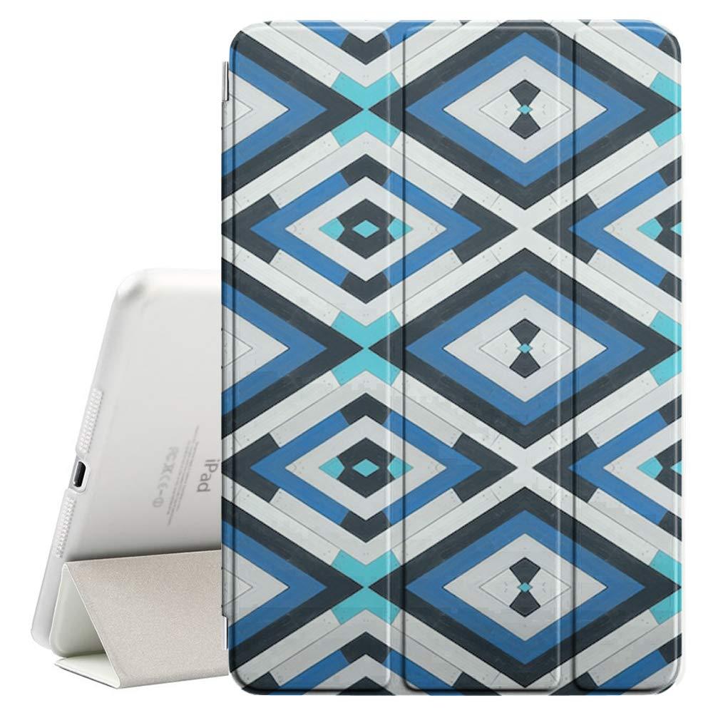 【新品、本物、当店在庫だから安心】 Apple B07PV9VVQN iPad 9.7インチ(2017&2018)対応 - - レザースマートカバー + + ハードバックケース スリープ/スリープ解除機能付き (カラフルな木目調幾何学模様) B07PV9VVQN, アジアンマーケットプレイス:3bde5f6f --- a0267596.xsph.ru