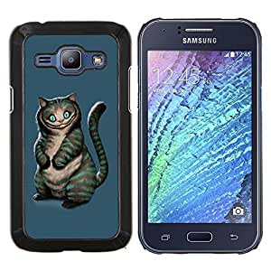 "For Samsung Galaxy J1 J100 , S-type Gato Mal"" - Arte & diseño plástico duro Fundas Cover Cubre Hard Case Cover"