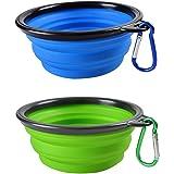Ansi Home Dog Travel Bowls Portable Collapsible Foldable Expandable Pet Dog Cat Feeding Travel Silicone Bowl