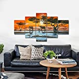 Wieco-Art-Extra-Large-Size-Elephant-Family-Modern-African-Landscape-Giclee-Canvas-Prints-Artwork-Animals-Paintings-Canvas-Wall-Art-for-Living-Room-Home-Decorations-P5RLA030-p