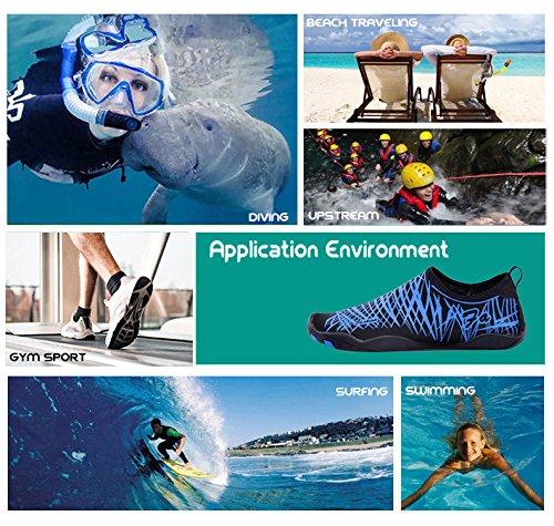 Hc Schwimmen Leicht Barfußschuhe blau Strandschuhe Badeschuhe Herren Wasserschuhe Tauchen Unisex Surfschuhe Damen Rutschfeste 4zPfxA