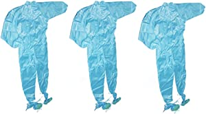 Othmro Dust Proof Coverall L Blue 3PCS, Anti-Static Coveralls for Spray Painting Cleaning Work