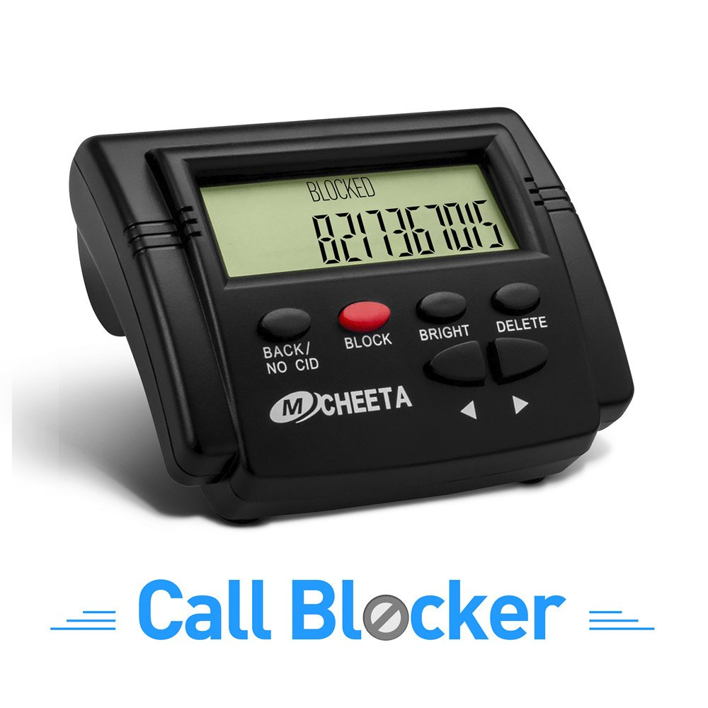 MCHEETA Landline Call Blocker, 4000 Number Capacity Universal Premium Phone Blocker, Block All Unsolicited Calls, Scam Calls, Robo Calls, Nuisance Calls, One Touch Blocking All Telemarketing Calls
