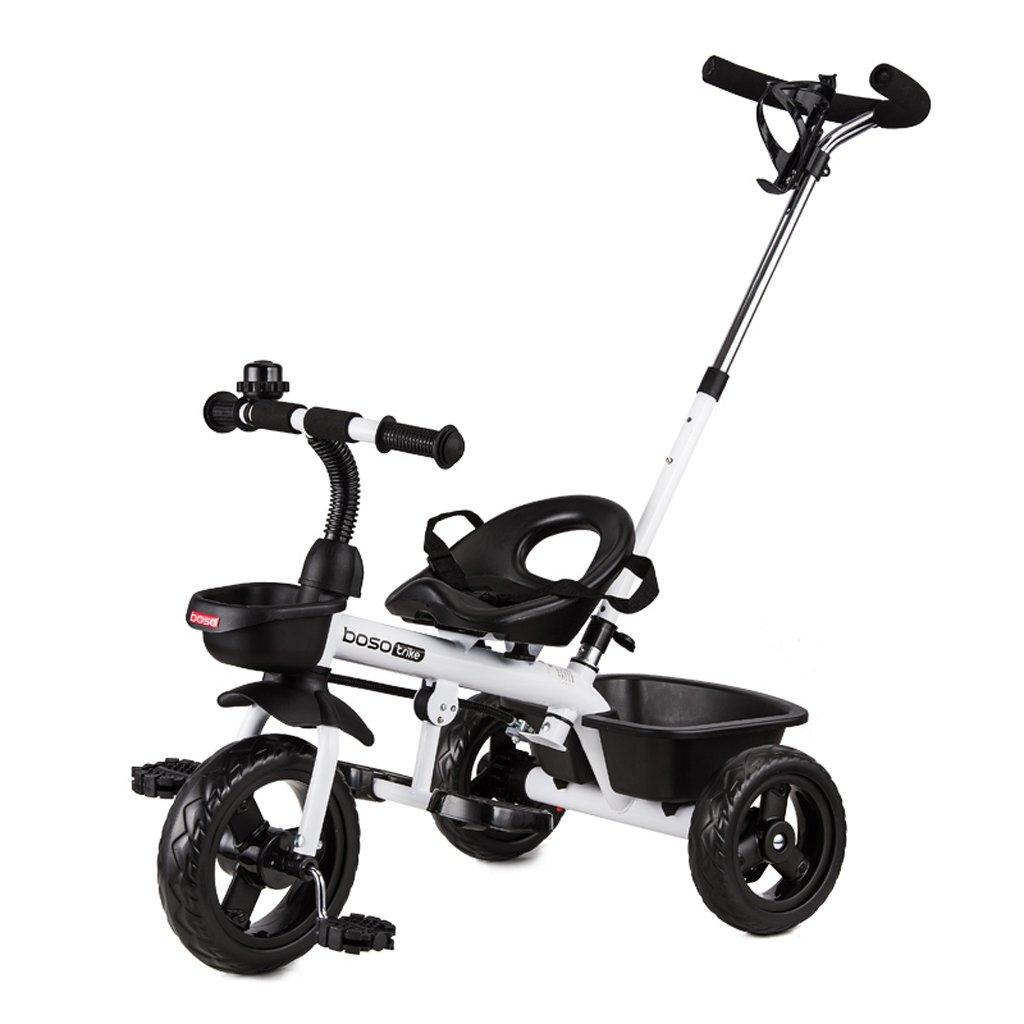 Fenfen Children 's Tricycles 1 – 6 Years Old Babyバイク赤ちゃんベビーカー、オレンジ、ホワイト、シアン、764590 CM B07C8CCR1Zホワイト