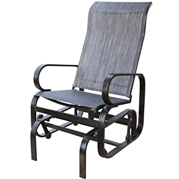 PatioPost Sling Glider Outdoor Patio Chair Textilene Mesh Fabric, Black Part 68