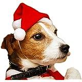 Disfraces de gorro de Papá Noel para perros, gatos y mascotas, Disfraces de Navidad para mascotas Gorro de Papá Noel con cord