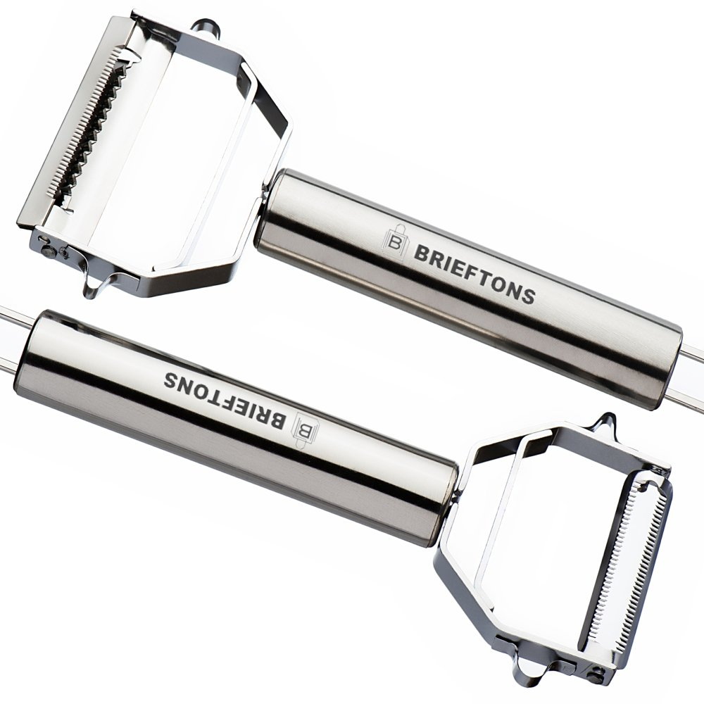 Brieftons Julienne Peeler/Cutter/Slicer: Serrated Stainless Steel Fruit/Vegetable Peeler & Julienne Slicer by Brieftons