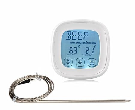 Androra pantalla táctil horno termómetro para carne & temporizador ...