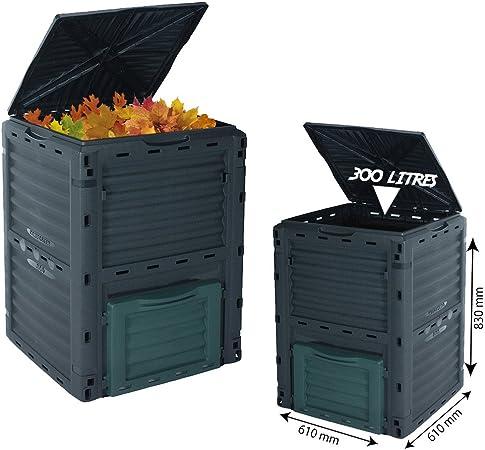 300l Komposter Komposttonne Fur Den Garten Umweltfreundlich Bio Mull Konverter Amazon De Garten