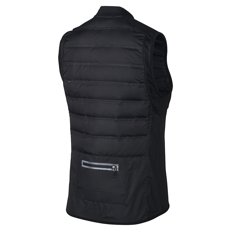 f48cc6a63a19 NIKE AEROLOFT 800 Men s Running Vest 683912-010 Black Large  Amazon.ca   Sports   Outdoors