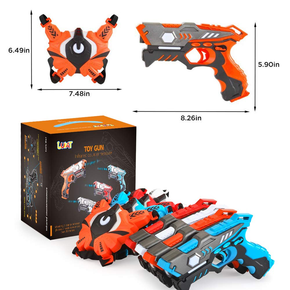 Laser Tag Guns Set with Vests, Infrared Guns Set of 4 Players by LUKAT (Image #7)