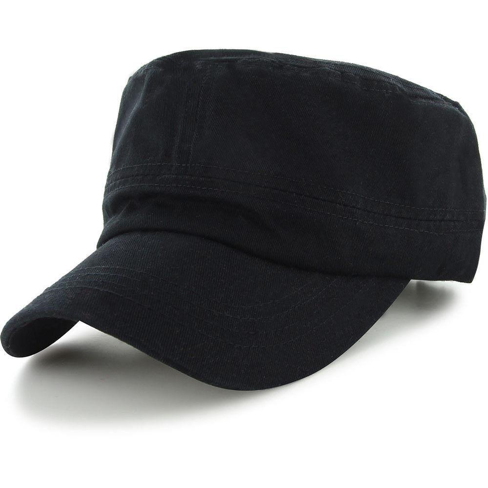 Easy-W Black Military Style Caps Hat Unizex Bucket