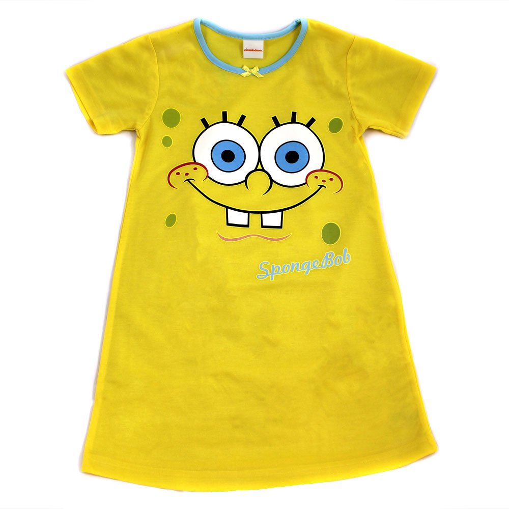 b51dcbd855 Girls Spongebob Squarepants Nightie   Nightdress - Age 5 to 6 Years   Amazon.co.uk  Clothing