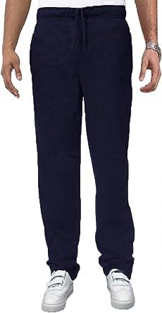 Carabou Pantalón De Chándal Hombre Elástico Pantalones De Cintura Elástico Pantalón De Chándal - algodón, Azul Marino, 50% poliéster. 50% algodón, Hombre, Extra Grande - Pierna 30