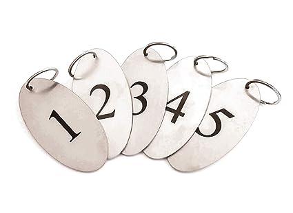 ORIGIN Llaveros de acero inoxidable de 2 mm de grosor ...