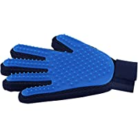Pet Hair Remover Glove - Gentle Pet Grooming Glove Brush - Deshedding Glove - Massage Mitt with Enhanced Five Finger Design - Perfect for Dogs & Cats with Long & Short Fur - 1 Pack
