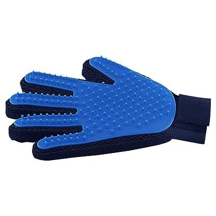 amazon com pet hair remover glove gentle pet grooming glove